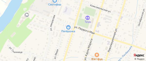 Улица Пушкина на карте Вельска с номерами домов