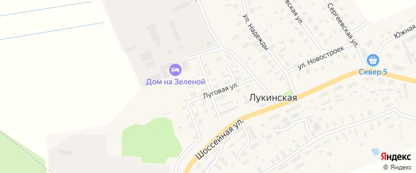 Воскресенская улица на карте Лукинской деревни с номерами домов