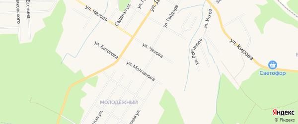 ГСК Чехова на карте улицы Чехова с номерами домов