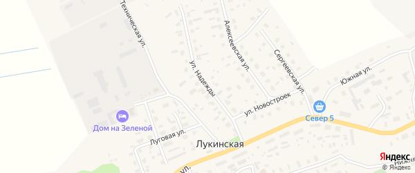 Улица Надежды на карте Лукинской деревни с номерами домов