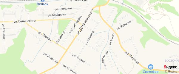 ГСК За д.N18г на карте улицы Гайдара с номерами домов
