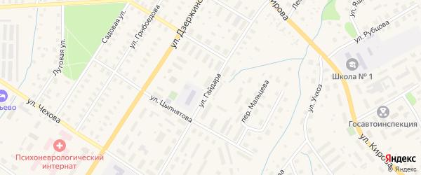 Улица Гайдара на карте Вельска с номерами домов