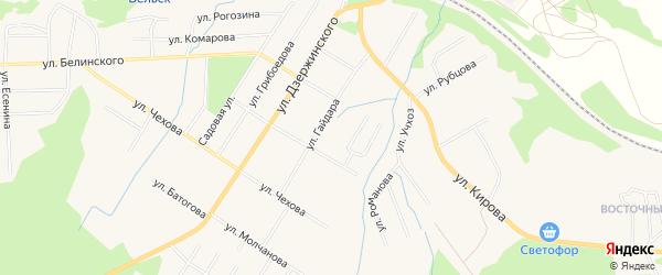 ГСК У дома N16а на карте улицы Гайдара с номерами домов