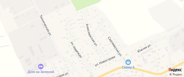 Алексеевская улица на карте Лукинской деревни с номерами домов