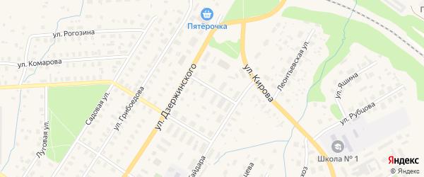 Улица Строителей на карте Вельска с номерами домов