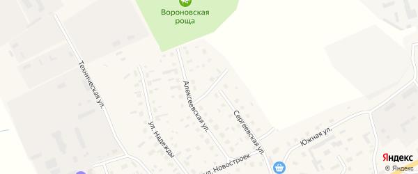 Радужная улица на карте Лукинской деревни с номерами домов