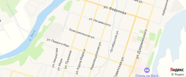 ГСК У д.N48 на карте Комсомольской улицы с номерами домов