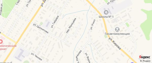Переулок Померанцева на карте Вельска с номерами домов
