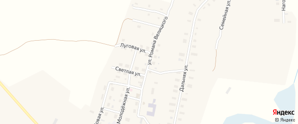 Улица Романа Велицкого на карте деревни Теребино с номерами домов