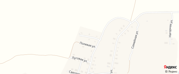 Улица Энтузиастов на карте деревни Теребино с номерами домов