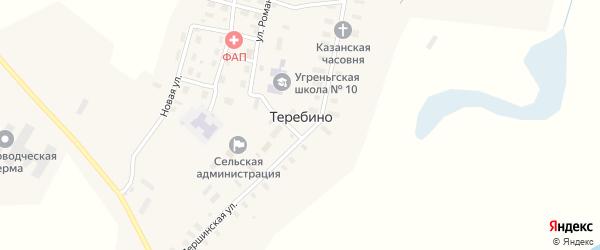 Светлая улица на карте деревни Теребино с номерами домов