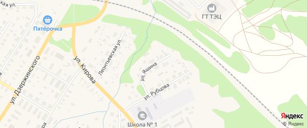 Улица Яшина на карте Вельска с номерами домов