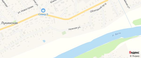 Нижняя улица на карте Вороновской деревни с номерами домов
