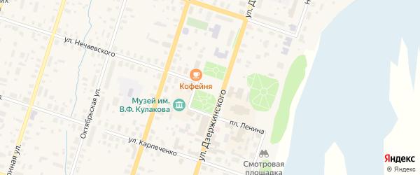 Площадь Ленина на карте Вельска с номерами домов