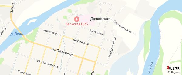 ГСК У дома N2а на карте Советской улицы с номерами домов