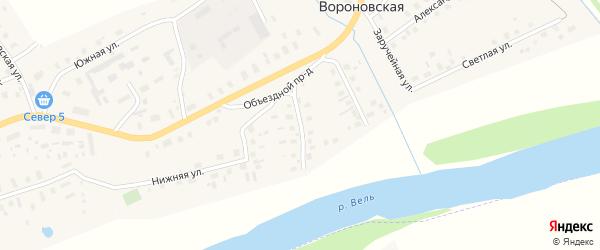 Заборская улица на карте Вороновской деревни с номерами домов