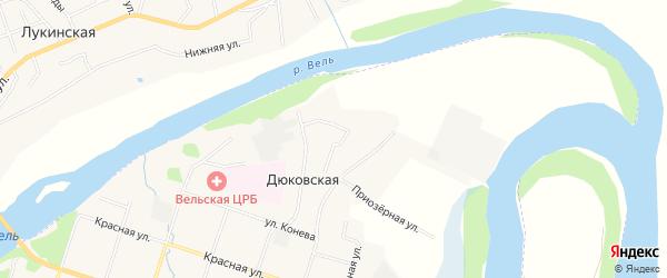 ГСК Автомобилист на карте Дюковской деревни с номерами домов