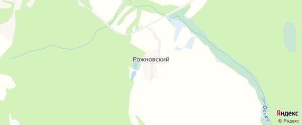Карта Рожновского поселка города Выксы в Нижегородской области с улицами и номерами домов