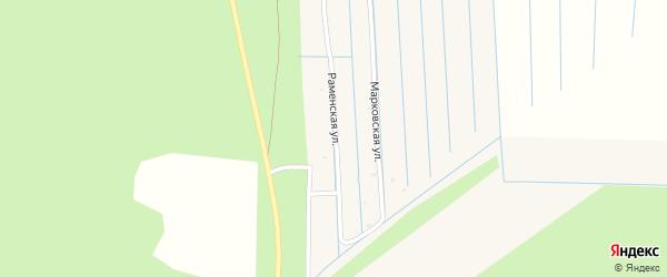 Раменская улица на карте Горка-Муравьевская деревни с номерами домов