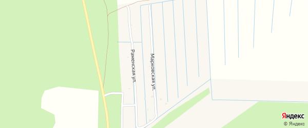 Марковская улица на карте Горка-Муравьевская деревни с номерами домов