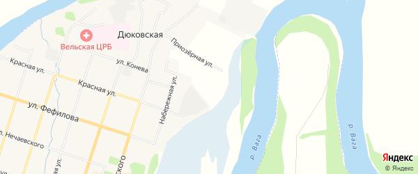 Карта садового некоммерческого товарищества СОТА Эколога в Архангельской области с улицами и номерами домов