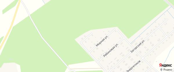 Сосновая улица на карте Горка-Муравьевская деревни с номерами домов