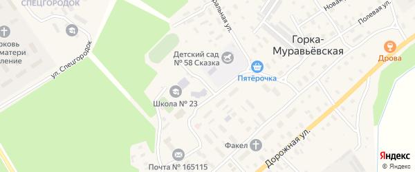 Межевой переулок на карте Горка-Муравьевская деревни с номерами домов