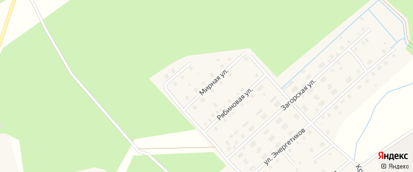 Мирная улица на карте Горка-Муравьевская деревни с номерами домов
