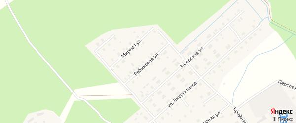 Рябиновая улица на карте Горка-Муравьевская деревни с номерами домов