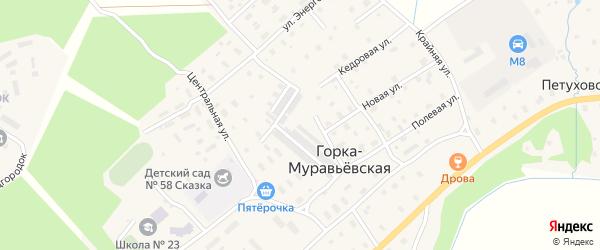 Улица Спецгородок на карте Горка-Муравьевская деревни с номерами домов