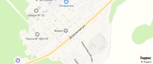 Дорожная улица на карте Горка-Муравьевская деревни с номерами домов