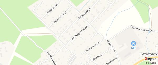 Улица Энергетиков на карте Горка-Муравьевская деревни с номерами домов