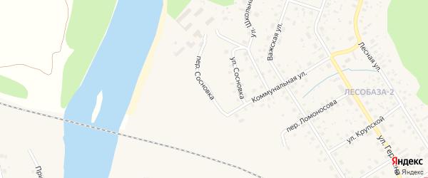 Переулок Сосновка на карте Вельска с номерами домов