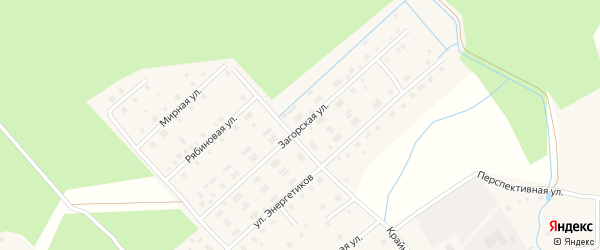 Загорская улица на карте Горка-Муравьевская деревни с номерами домов