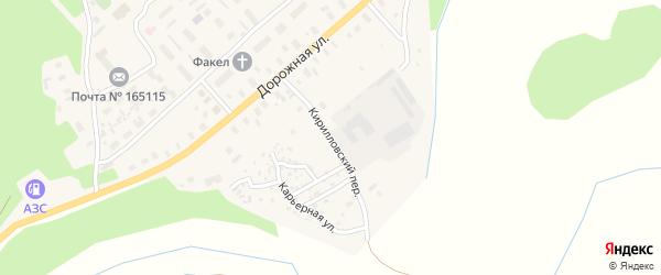 Кирилловский переулок на карте Горка-Муравьевская деревни с номерами домов