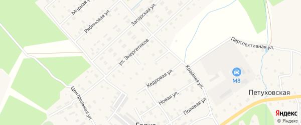 Андреевский переулок на карте Горка-Муравьевская деревни с номерами домов
