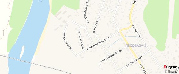 Важский переулок на карте Вельска с номерами домов