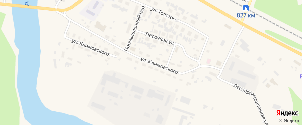 Улица Климовского на карте Вельска с номерами домов