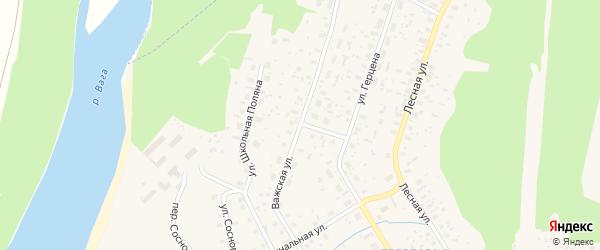 Важская улица на карте Вельска с номерами домов