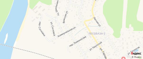 Коммунальная улица на карте Вельска с номерами домов
