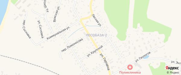 Улица Герцена на карте Вельска с номерами домов