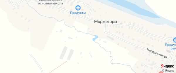 Молодежная улица на карте деревни Моржегоры с номерами домов