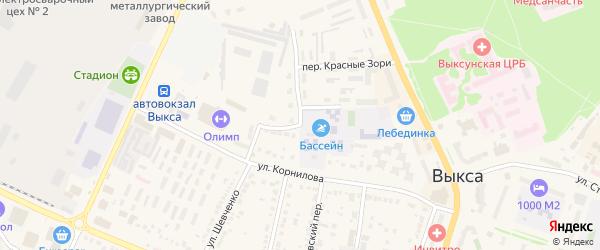 Амбулаторная улица на карте Выксы с номерами домов