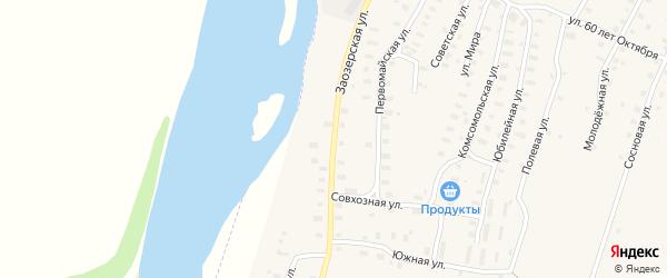 Заозерская улица на карте Аргуновского поселка с номерами домов