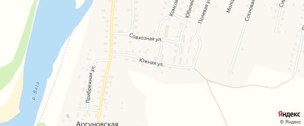 Южная улица на карте Аргуновского поселка с номерами домов