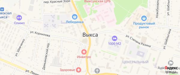 Соборная площадь на карте Выксы с номерами домов