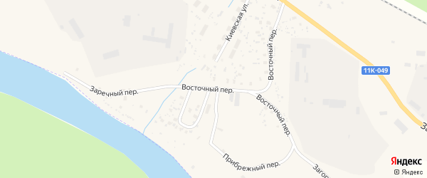 Восточная улица на карте Вельска с номерами домов