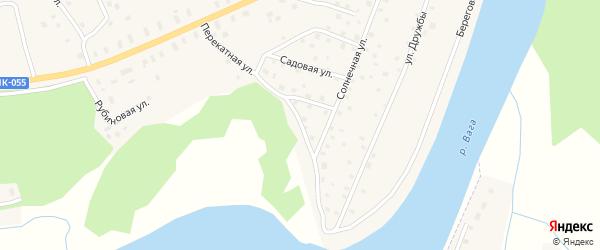 Перекатная улица на карте Филяевской деревни с номерами домов