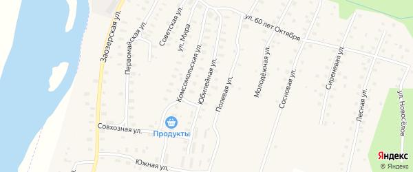 Юбилейная улица на карте Аргуновского поселка с номерами домов