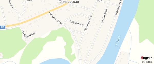 Спортивная улица на карте Филяевской деревни с номерами домов